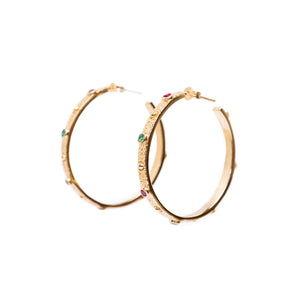 NEBULA R/E Earrings Gold Plated