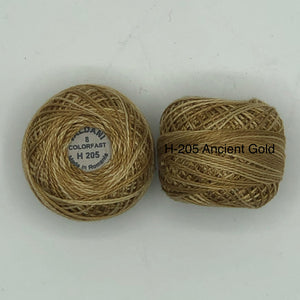 Valdani Thread size 8 Perle Cotton- H-205 Ancient Gold
