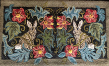 Rabbits in the Garden-LRH Linen Rug Hooking Pattern