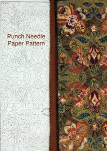 Flourish #3060 Paper Punch Needle Pattern-(PAPER PATTERN ONLY)