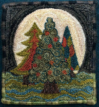 Moon Trees- Paper Rug Hooking Pattern-(PAPER PATTERN ONLY)