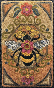 Bumblebee I-Paper Rug Hooking Pattern-PAPER PATTERN ONLY)