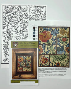 Views of Morris-Paper Punch Needle Pattern (Paper Pattern Only)