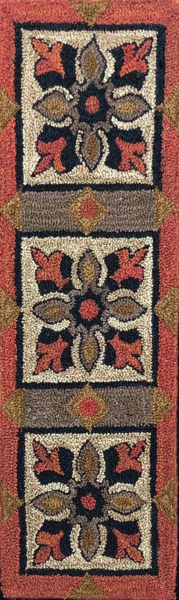 Large Trio-Paper Rug Hooking Pattern-(PAPER PATTERN ONLY)