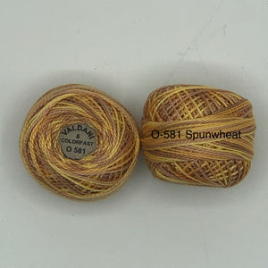Valdani Thread size 8 Perle Cotton- O-581 Spunwheat
