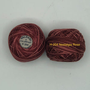 Valdani Thread size 8 Perle Cotton- H-204 Nostalgic Rose