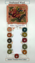 Flourish #1616 Paper Punch Needle Pattern-2S- see working options (PAPER PATTERN ONLY)