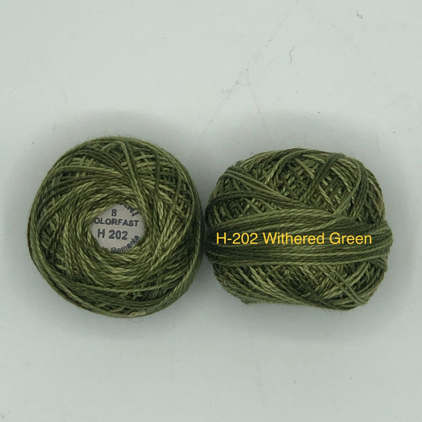 Valdani Thread size 8 Perle Cotton-H-202 Withered Green