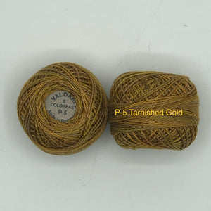 Valdani Thread Size 8 Perle Cotton- P-5 Tarnished Gold