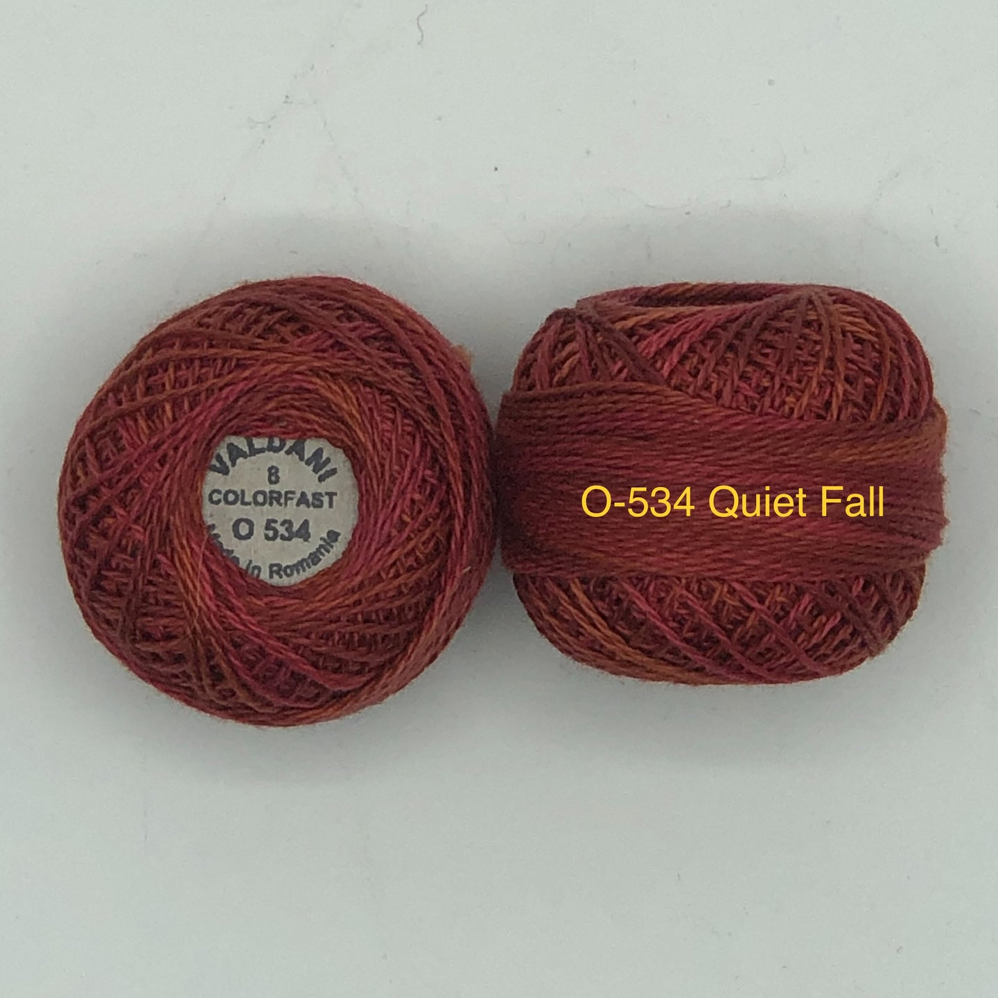 Valdani Thread Size 8, Perle Cotton O#534 Quiet Fall