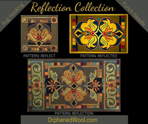 Reflected-PRH Paper Rug Hooking Pattern
