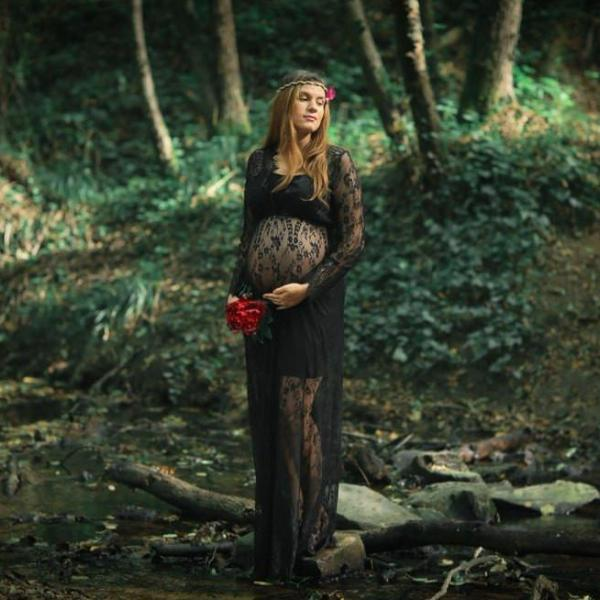 9393c63f3f55d Lace Maternity Gown Photo Prop (Also in Black) – Wild Evergreen Company
