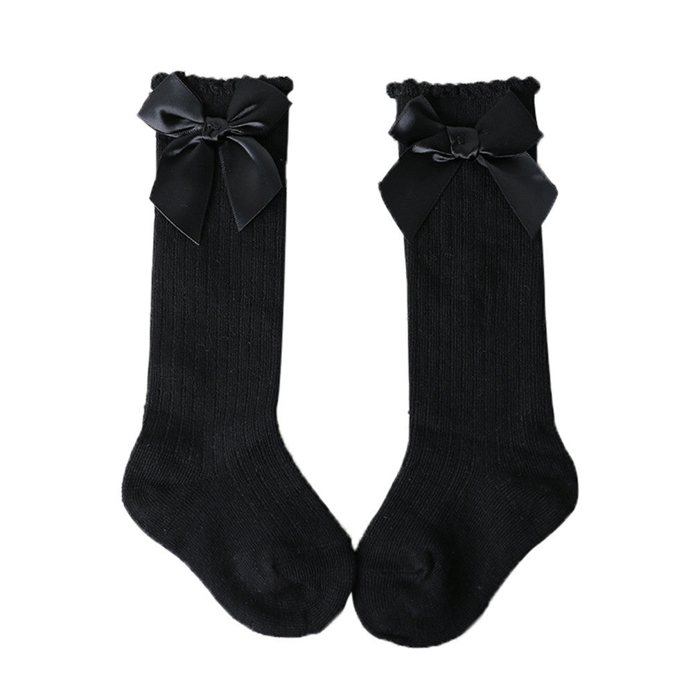 5b3de850761 ... Big Bow Toddlers Girls Knee High Soft Cotton Socks (More Colors)