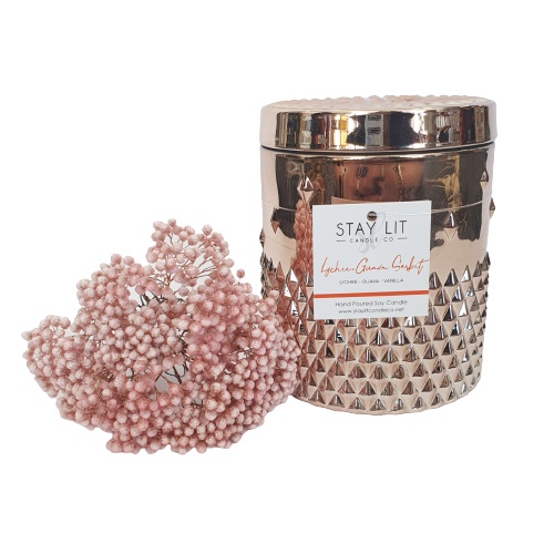 Rose Gold Valentino Soy Candle
