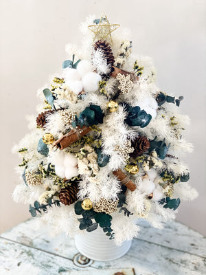 Preserved Blooms Christmas Tree