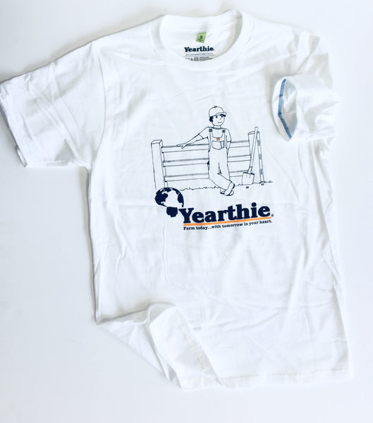 Farmer T shirt by Yearthie - Farm today with tomorrow in your heart.