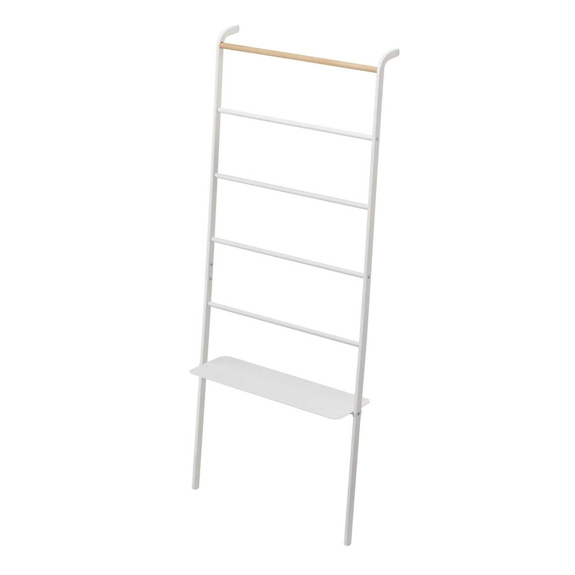White Tower Leaning Ladder With Shelf