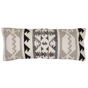 "Tulum Lumbar Cushion Grey | 12""x30"""