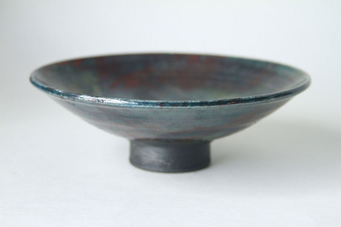 Black Glazed Footed Dish