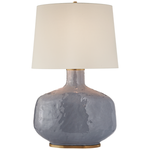 Beton Large Table Lamp in Cloudy Blue with Linen Shade | Kelly Wearstler