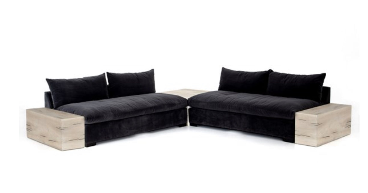GRANT 2-PC SECTIONAL W/CORNER+END TABLES