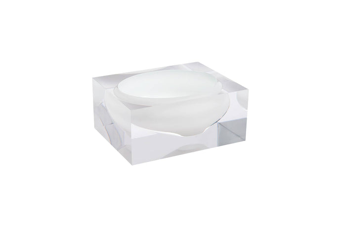 Acrylic Block Bowl | Hamptons White