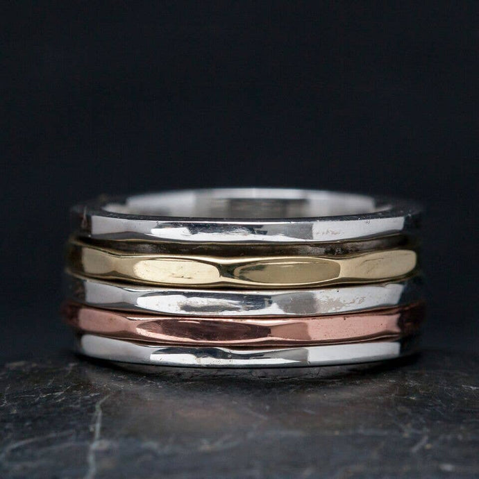 Meditation Ring | Mixed Metal Bands | Size 7