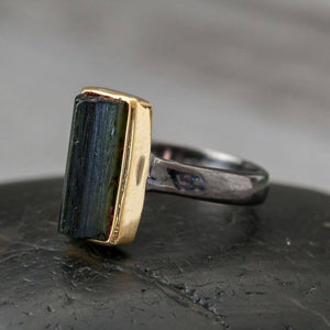 Statement Ring | Sterling & Gold Plate | Size 8