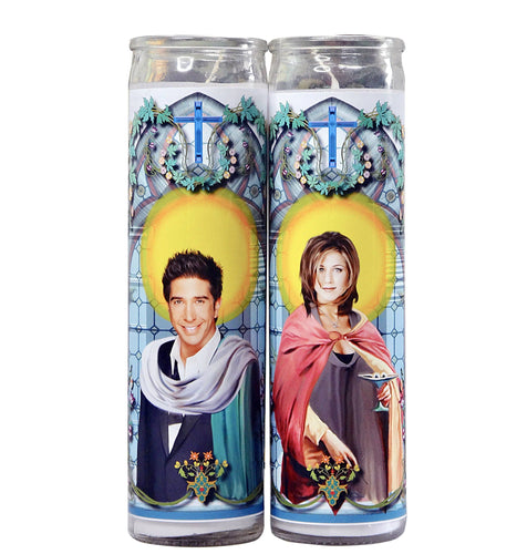 Do Pray Tell | Ross and Rachel Celebrity Prayer Candle Set | Friends
