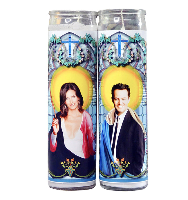 Monica And Chandler Celebrity Prayer Candle Set - Friends