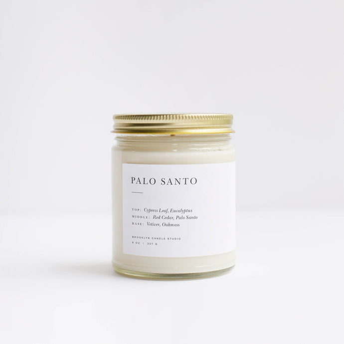 Palo Santo Minimalist Candle | Brooklyn Candle Studio