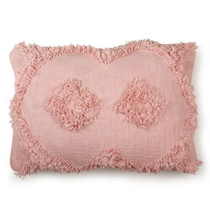"Shag Lumbar Pillow | Blush | 14""x20"""