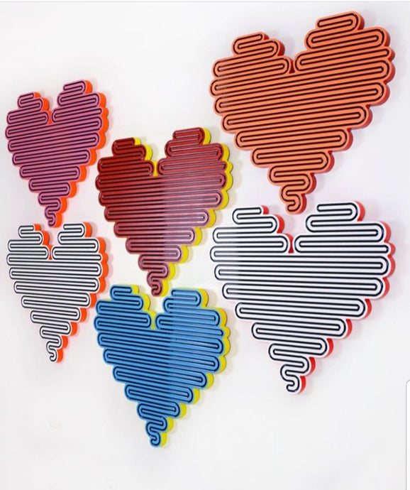 "Jenna Krypell | 'Unraveling Heart' 20"" x 22"" 