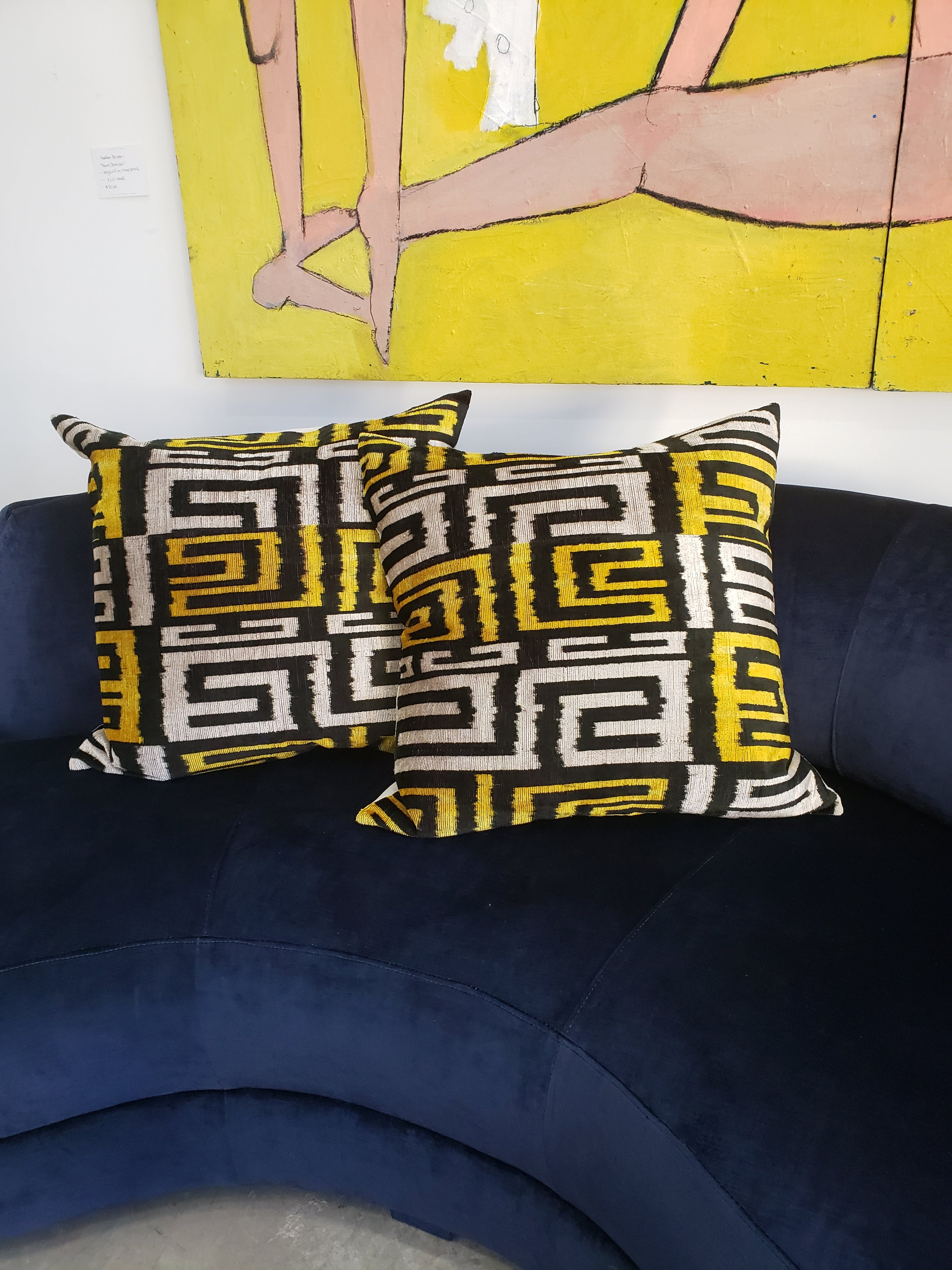 Silk Velvet Ikat Euro Pillow 3