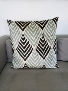Silk Velvet Ikat Euro Pillow 1
