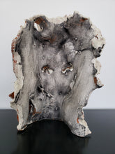 "Juanita May | Raku Face Scultpure | 9"" x 13"" x 3"""