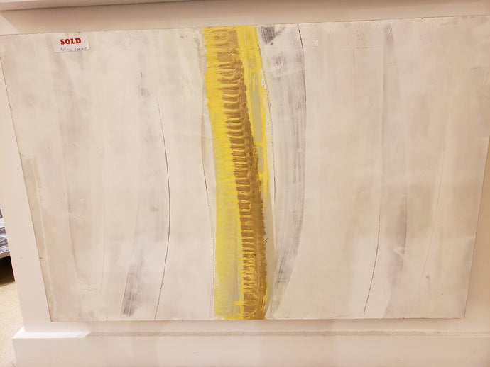 Abstract White & Yellow Painting 24x36
