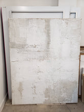 "Sand Breton | White on Cream 51"" x 64"""
