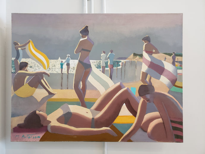 "Michael Patterson | Untitled, Montauk Beach Scene, 2015 | 36""x48"""
