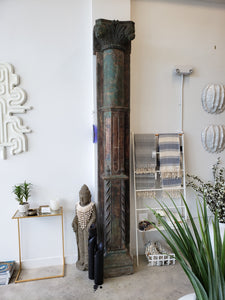 Huge Antique Indian Pillars | Pair