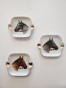 Vintage Porcelain Horse Ashtray/ Dish | 3.5""