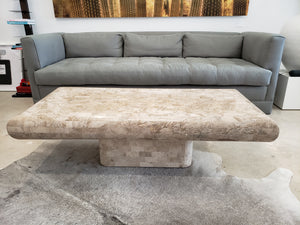 "Vintage Tessellated Marble Coffee Table | 56""l x 25""w x 17""h"