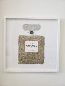 "Champagne Glitter Perfume Bottle Art | 24""x24"" 