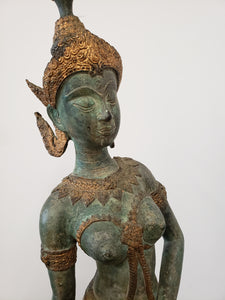 Dancing Hindu Sculpture | Brass & Wood