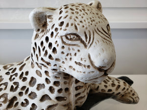 Vintage Ceramic Reclining Cheetah
