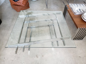 Chrome & Glass Modern Coffee Table | Vintage