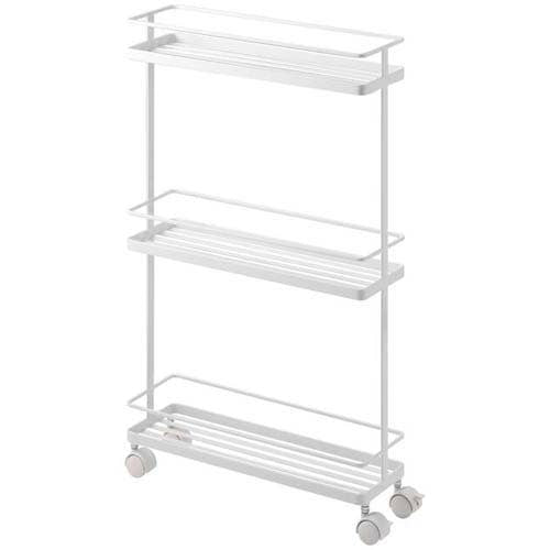 Tower Rolling Kitchen Storage Cart White