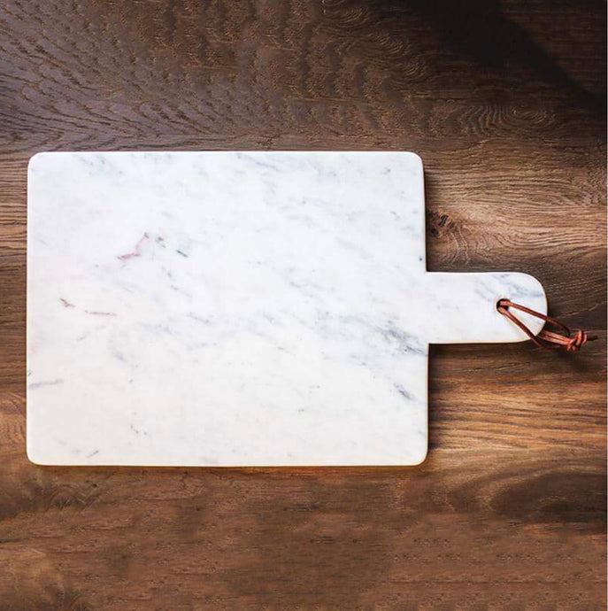 Large Marble Paddle Serving Tray