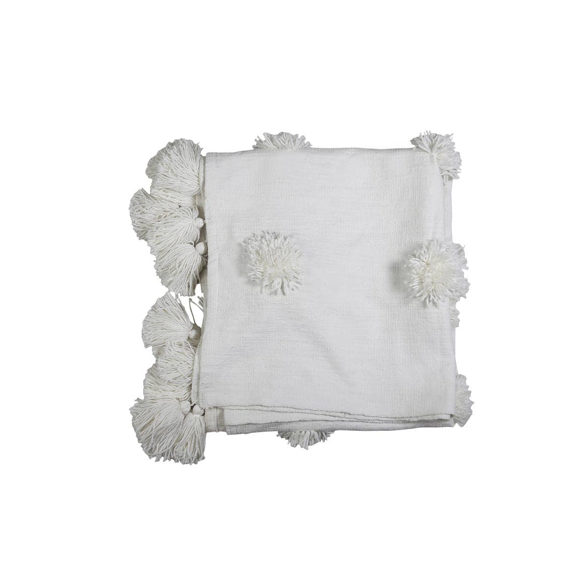 "Snow Flake Throw | White | 50""x 60"""
