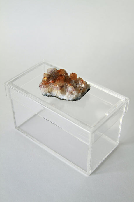 Acrylic and Mineral Card Box Tall